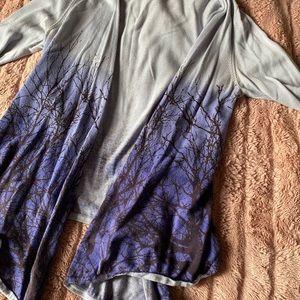 bebe • midnight woods drapey blue cardigan